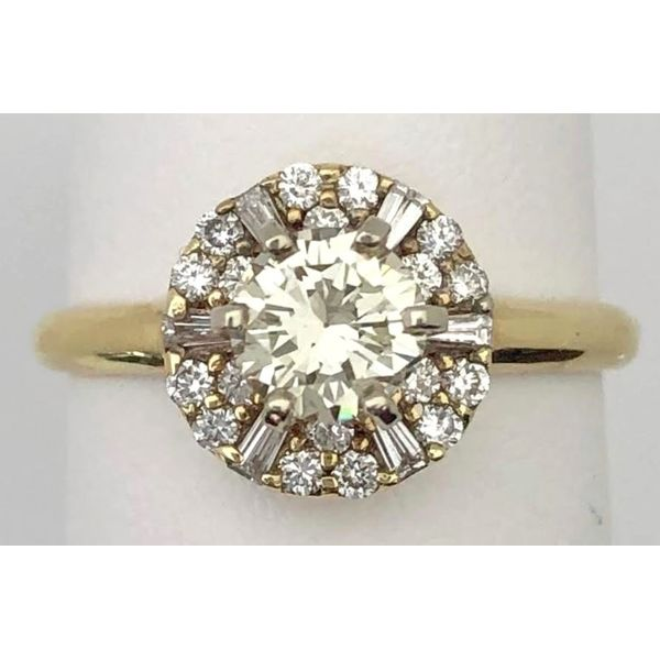 14KY RBC & Baguette Diamond Ring 1.08ctTW Pineforest Jewelry, Inc. Houston, TX