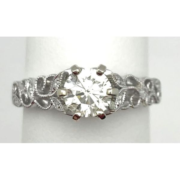 14KW 0.86ctTW Round Diamond Engagement Ring Pineforest Jewelry, Inc. Houston, TX