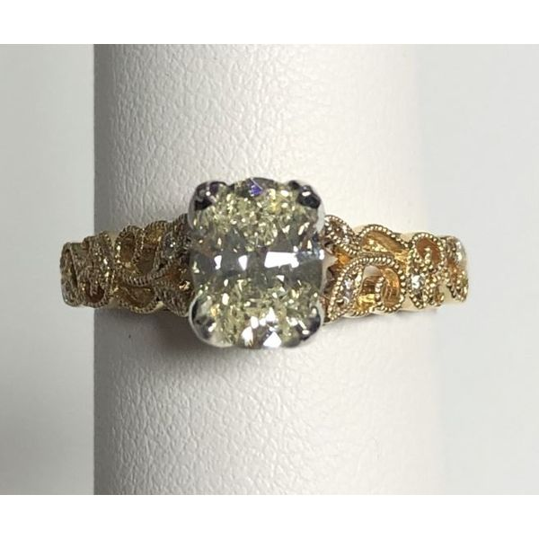 14KY Oval Diamond Engagement Ring Pineforest Jewelry, Inc. Houston, TX