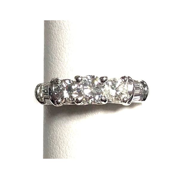 14KW Three-Stone Diamond Engagement Ring Pineforest Jewelry, Inc. Houston, TX