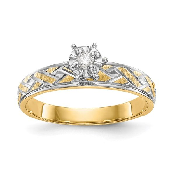 14K Two-Tone Diamond Engagement Ring Pineforest Jewelry, Inc. Houston, TX