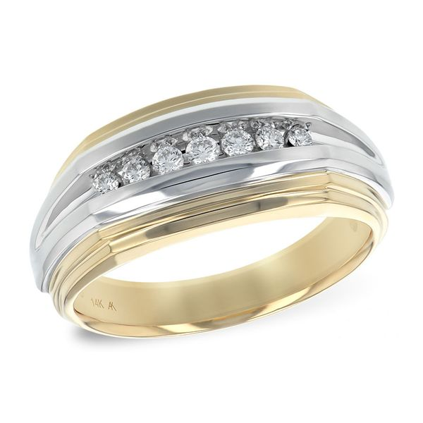 14K Two-Tone Diamond Wedding Band Pineforest Jewelry, Inc. Houston, TX