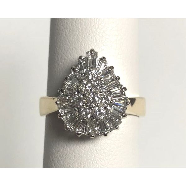 14K Two-Tone Diamond Ballerina Style Ring 1.00ctTW Pineforest Jewelry, Inc. Houston, TX