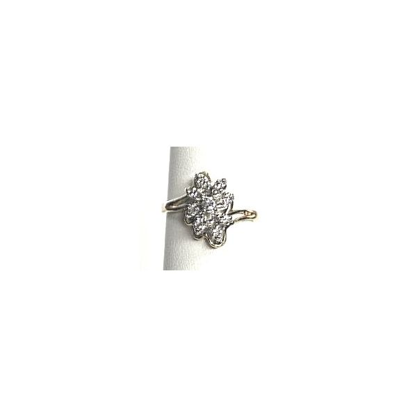 10KY Diamond Cluster Ring Pineforest Jewelry, Inc. Houston, TX