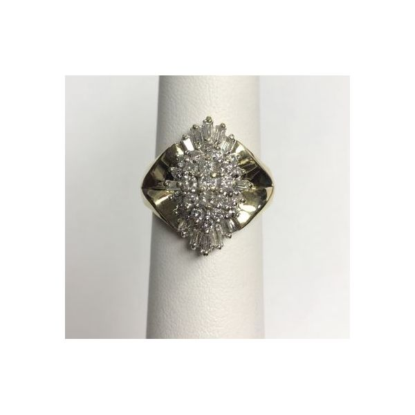 14KY Diamond Cluster Fashion Ring Pineforest Jewelry, Inc. Houston, TX