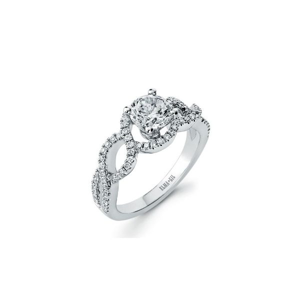 18KW Diamond Engagement Ring Semi-Mount Pineforest Jewelry, Inc. Houston, TX