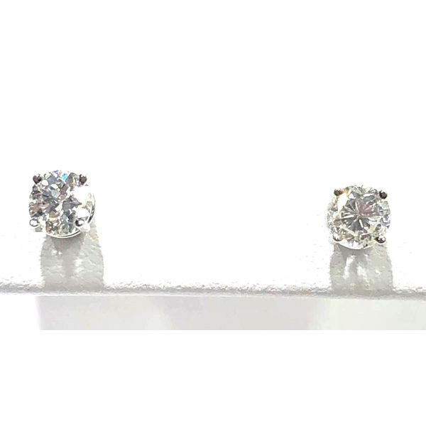 14KW Round Diamond Stud Earring Pair 0.64ctTW Pineforest Jewelry, Inc. Houston, TX