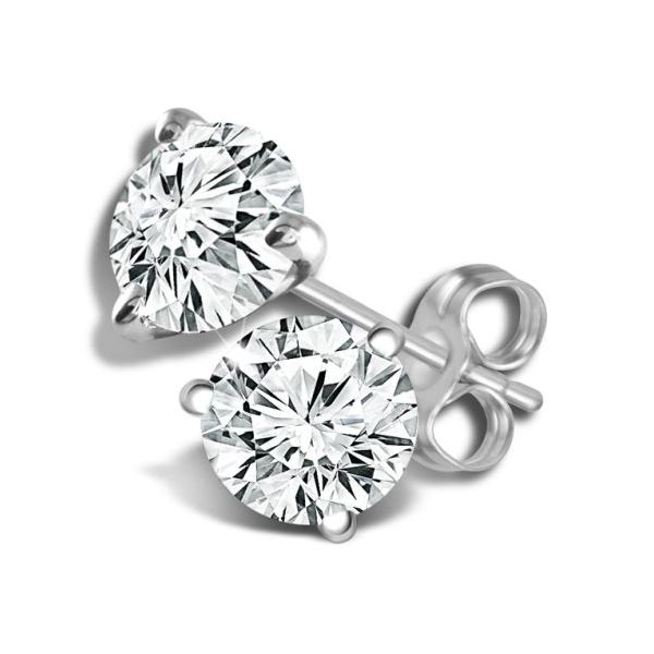 14KW Martini-Set Diamond Stud Earring Pair Pineforest Jewelry, Inc. Houston, TX