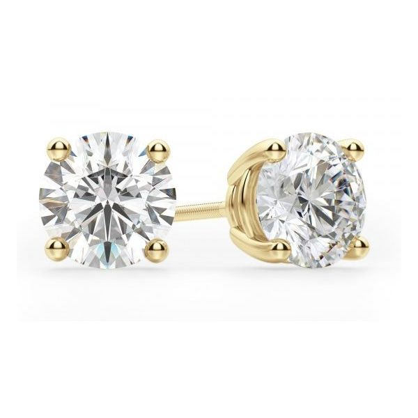 14KY 0.25ctTW I/I1 Diamond Stud Earrings Gram Weight:0.7gr Pineforest Jewelry, Inc. Houston, TX