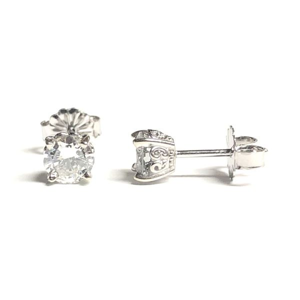 14KW RBC Diamond Stud Earring Pair 0.71ctTW Pineforest Jewelry, Inc. Houston, TX
