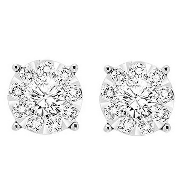 14KW Diamond Stud Earring Pair 0.25ctTW Pineforest Jewelry, Inc. Houston, TX