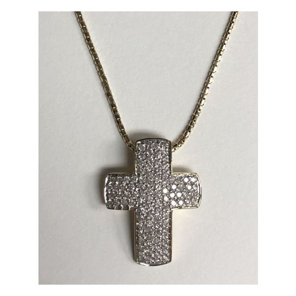 14KY Pave Diamond Cross Necklace Pineforest Jewelry, Inc. Houston, TX