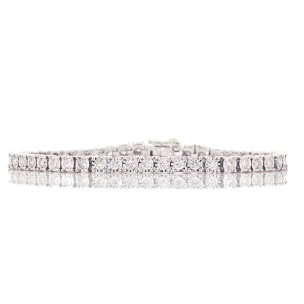 14KW Illusion-Set Diamond Tennis Bracelet 3.00ctTW Pineforest Jewelry, Inc. Houston, TX