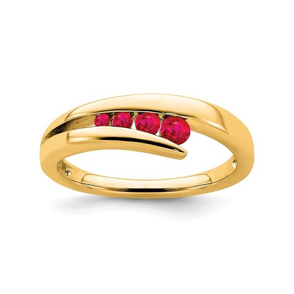 14KY Ruby Ring Size:7 Gram Weight:3.5gr Pineforest Jewelry, Inc. Houston, TX