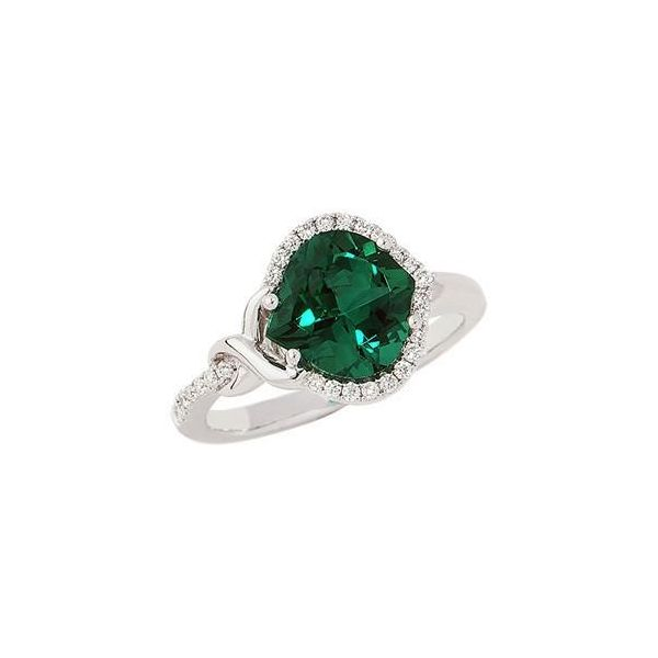 14KW Chatham Emerald Ring Pineforest Jewelry, Inc. Houston, TX