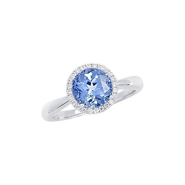 14KW Chatham Aqua Spinel Ring Pineforest Jewelry, Inc. Houston, TX
