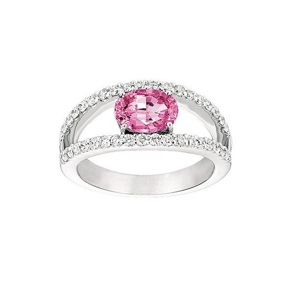 14KW Chatham Pink Sapphire Ring Pineforest Jewelry, Inc. Houston, TX