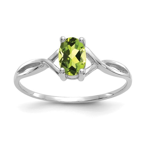 14KW Oval Peridot Birthstone Ring Pineforest Jewelry, Inc. Houston, TX
