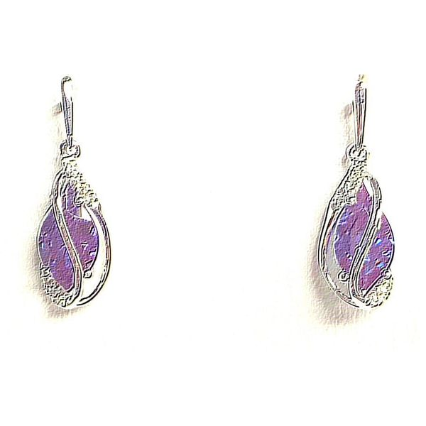 14KW Chatham Alexandrite Earring Pair Pineforest Jewelry, Inc. Houston, TX
