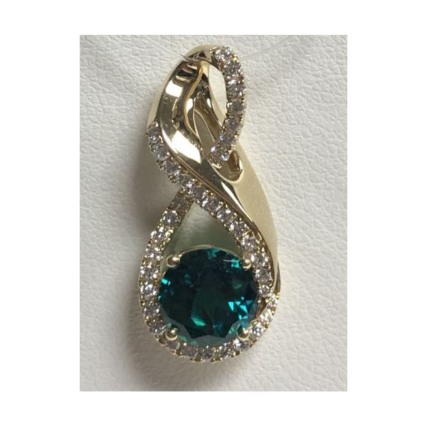 14KY Chatham Emerald Pendant Pineforest Jewelry, Inc. Houston, TX