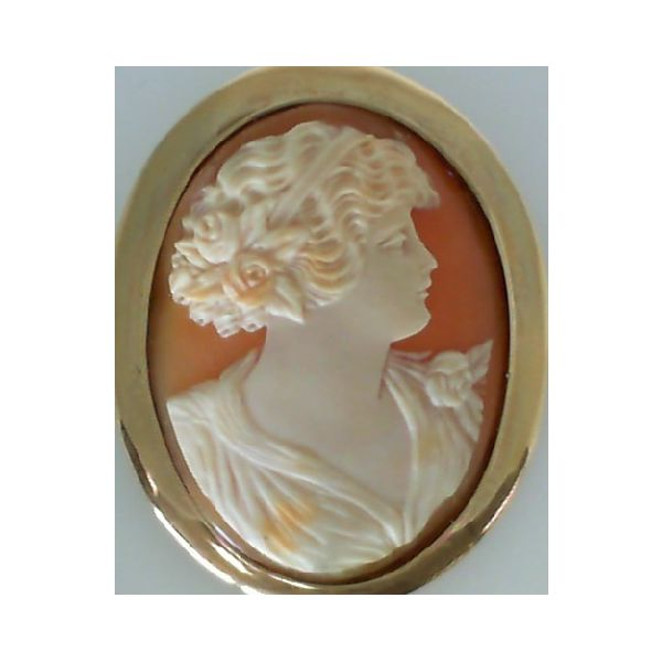14KY Large Oval Cameo Brooch Pineforest Jewelry, Inc. Houston, TX