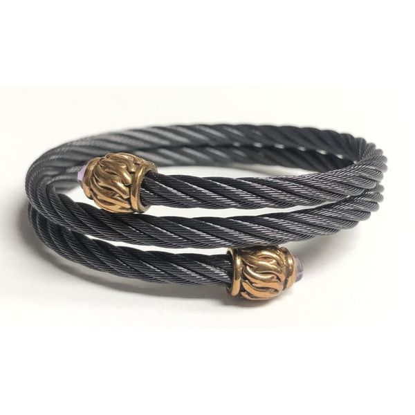 Titanium Cable Bronze Weave Wrap Bracelet Pineforest Jewelry, Inc. Houston, TX