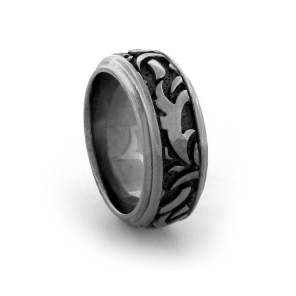 Edward Mirell Black Ti Casted Design 7mm Band Pineforest Jewelry, Inc. Houston, TX