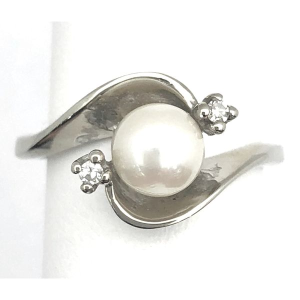 10K Pearl & Diamond Ring Pineforest Jewelry, Inc. Houston, TX
