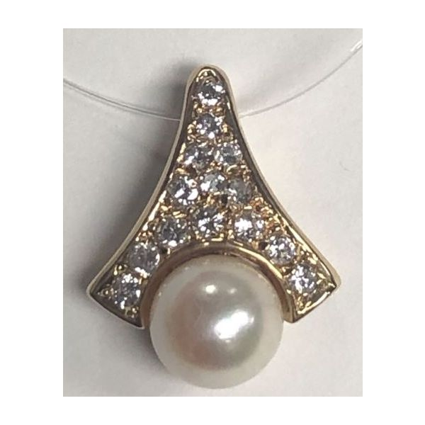 14KY Pearl & Diamond Pendant Pineforest Jewelry, Inc. Houston, TX