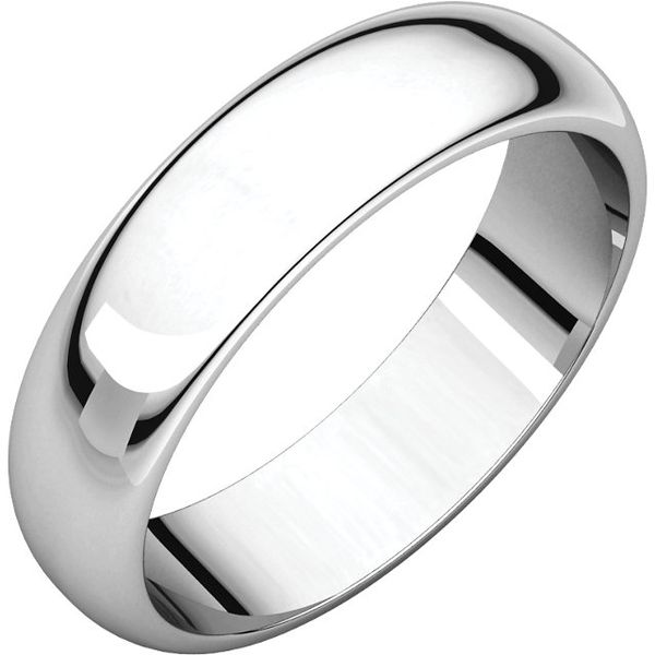 14KW 6mm Low-Dome Polished Band Size:6 Pineforest Jewelry, Inc. Houston, TX