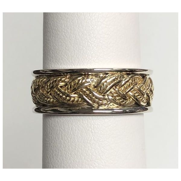 14K Two-Tone Braided Style Wedding Band Pineforest Jewelry, Inc. Houston, TX