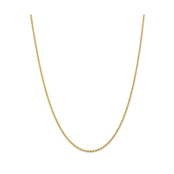 14KY 1.30mm Rope Chain 18in Pineforest Jewelry, Inc. Houston, TX