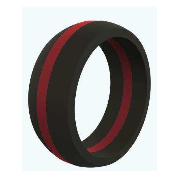 Qalo Thin Red Line Silicone Ring Pineforest Jewelry, Inc. Houston, TX