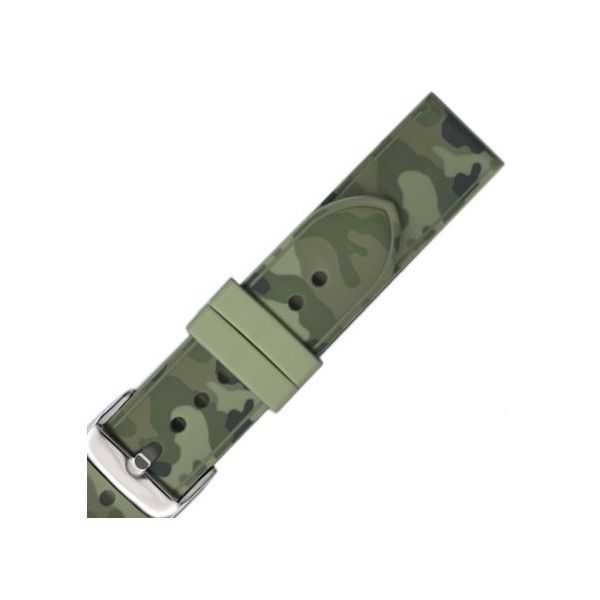 Green Camo Genuine Silicone 20R Pineforest Jewelry, Inc. Houston, TX