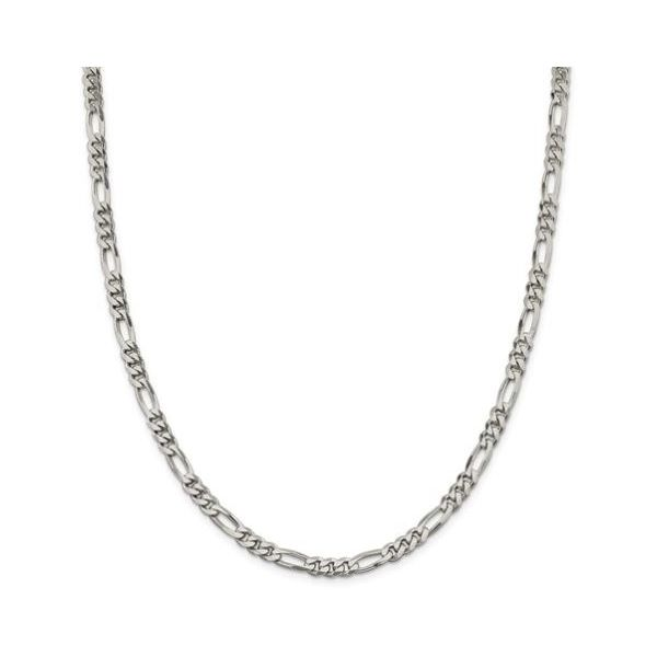 Sterling Silver 5.5mm FIgaro Chain 24in Pineforest Jewelry, Inc. Houston, TX