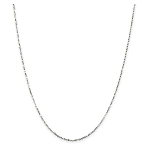 Sterling Silver 1.1mm Diamond-Cut Rope Chain 24in Pineforest Jewelry, Inc. Houston, TX