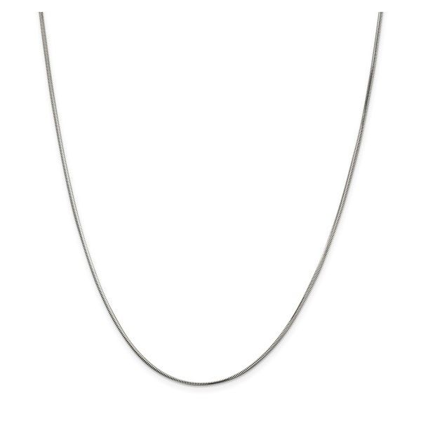 Sterling Silver 1.5mm Diamond-cut Flat Snake Chain 20in Pineforest Jewelry, Inc. Houston, TX