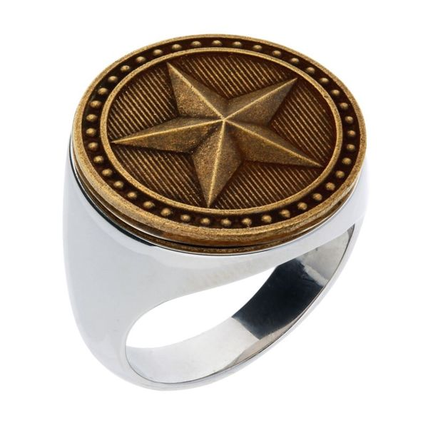 Sterling Silver Gent's Texas Star Ring Pineforest Jewelry, Inc. Houston, TX