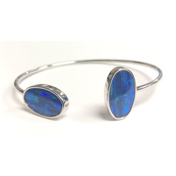 SS Australian Opal Doublet Bracelet Pineforest Jewelry, Inc. Houston, TX