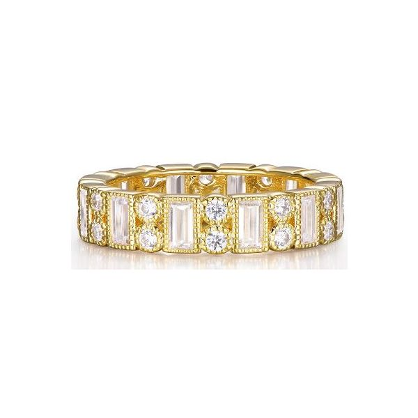 SS CZ Gold-Plated Fashion Ring Pineforest Jewelry, Inc. Houston, TX