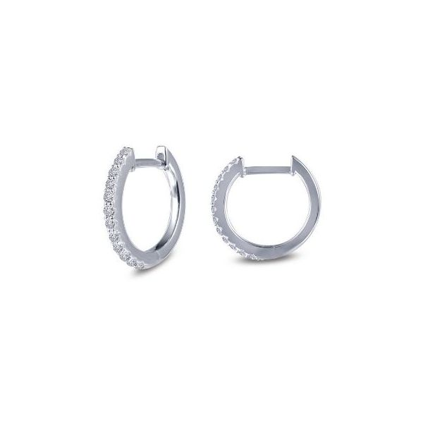 SS CZ Huggie Earring Pair Pineforest Jewelry, Inc. Houston, TX