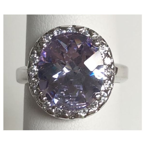 SS Oval Purple Stone Ring Size:5.75 Gram Weight:5.34gr Pineforest Jewelry, Inc. Houston, TX