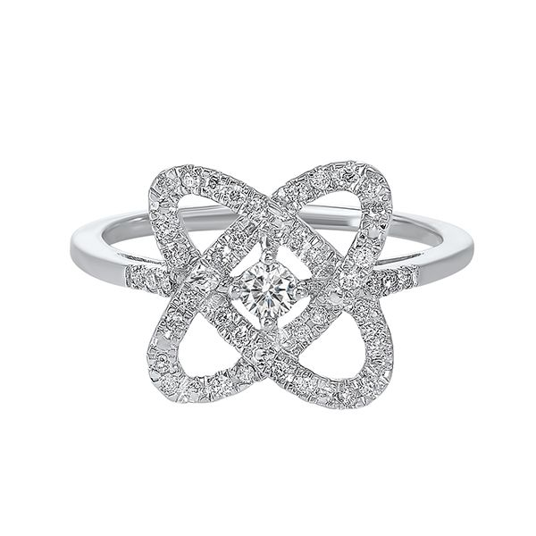 SS 0.25ctTW H-I/I3 Loves Crossing Diamond Ring Size: 7 Pineforest Jewelry, Inc. Houston, TX