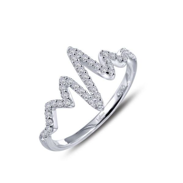 Sterling Silver Heartbeat Ring Pineforest Jewelry, Inc. Houston, TX
