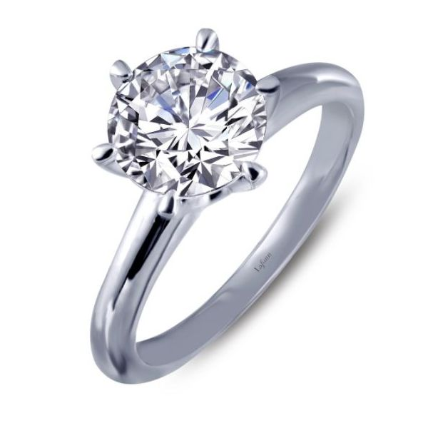 SS Solitaire Lassaire CZ Ring Pineforest Jewelry, Inc. Houston, TX