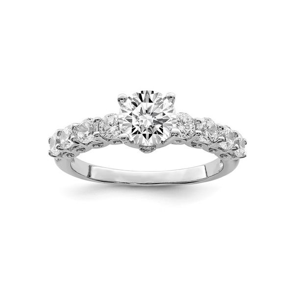 Sterling Silver Rhodium-Plated Polished  CZ Ring Pineforest Jewelry, Inc. Houston, TX