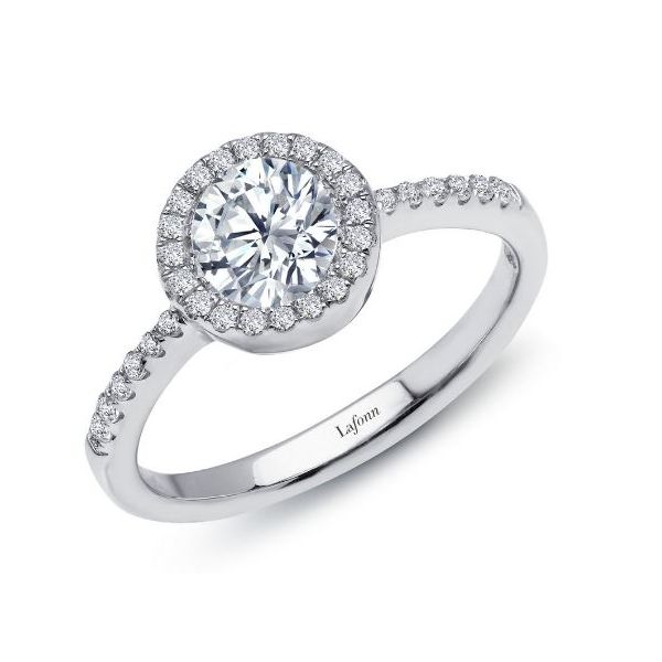 SS Lafonn Lassaire Engagement Ring Pineforest Jewelry, Inc. Houston, TX