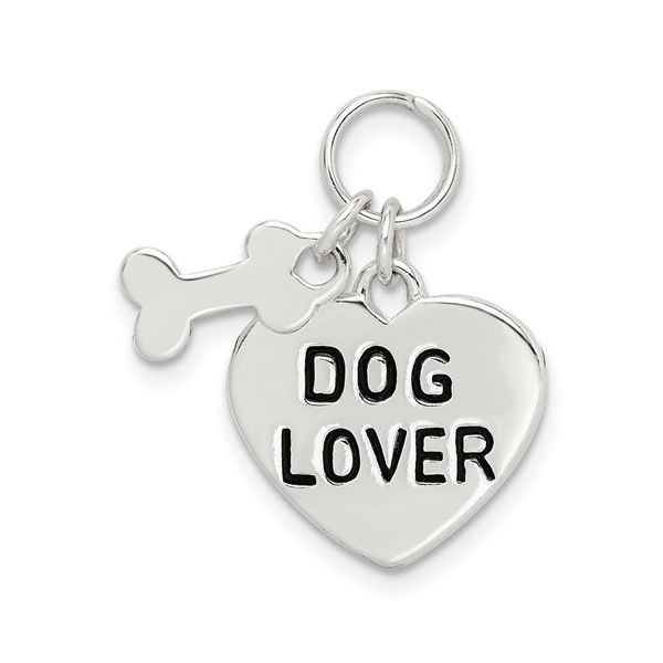 Sterling Silver Dog Lover Pendant Pineforest Jewelry, Inc. Houston, TX