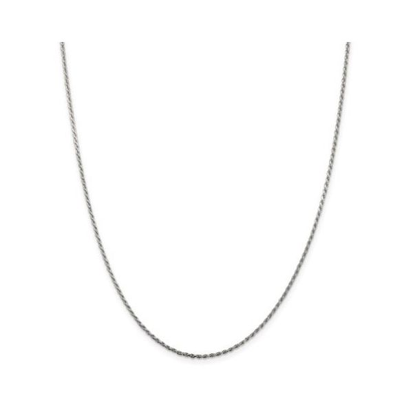 Sterling Silver Diamond-Cut Rope Chain 18in Pineforest Jewelry, Inc. Houston, TX