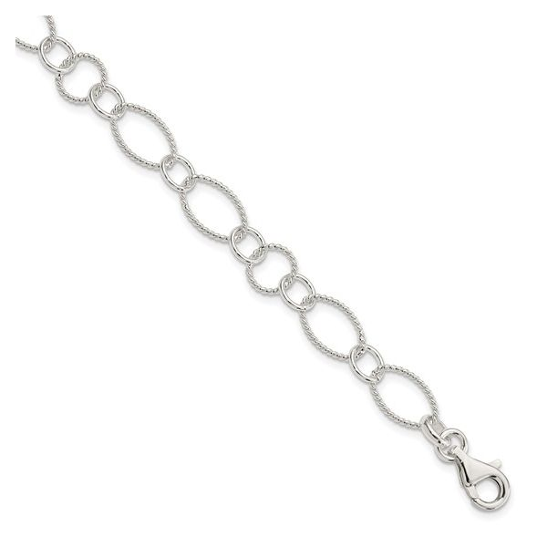 Sterling Silver Fancy Link Bracelet 7.50in Pineforest Jewelry, Inc. Houston, TX